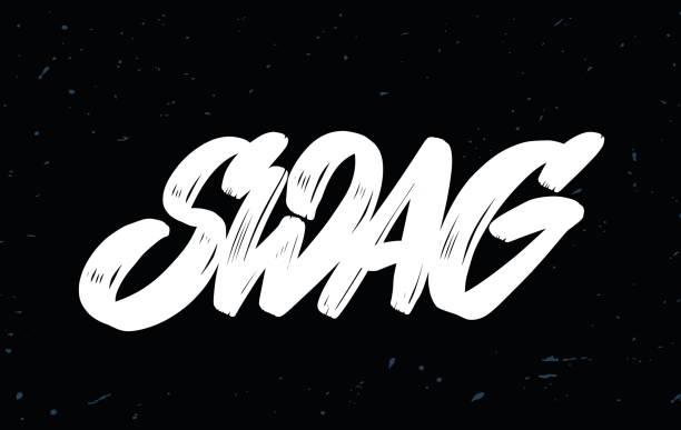 swag. vektor-schriftzug. - swag stock-grafiken, -clipart, -cartoons und -symbole