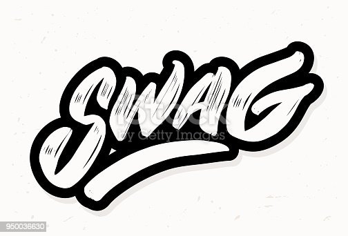Swag. Vector lettering. Vector hand drawn illustration.