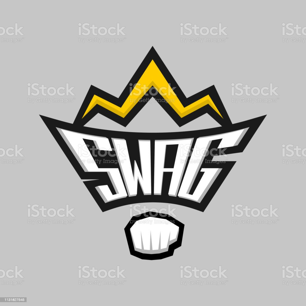 Swag Word Logo Badge With Crown And Fist Stock Illustration Download Image Now Istock