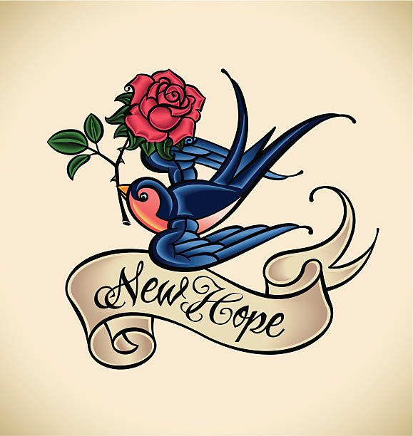 illustrations, cliparts, dessins animés et icônes de avaler apporte de new hope - tatouages d'oiseaux