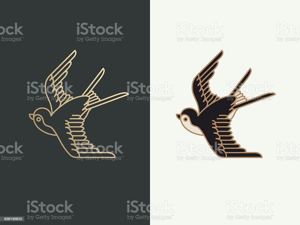 Golondrina  - ilustración de arte vectorial