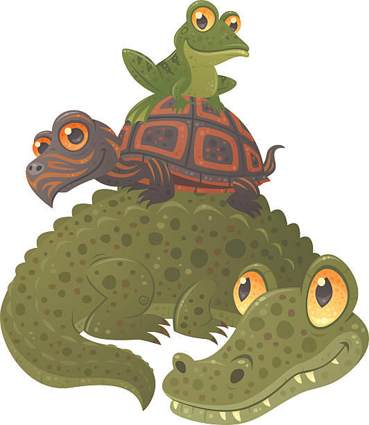 Swamp Squad vector art illustration
