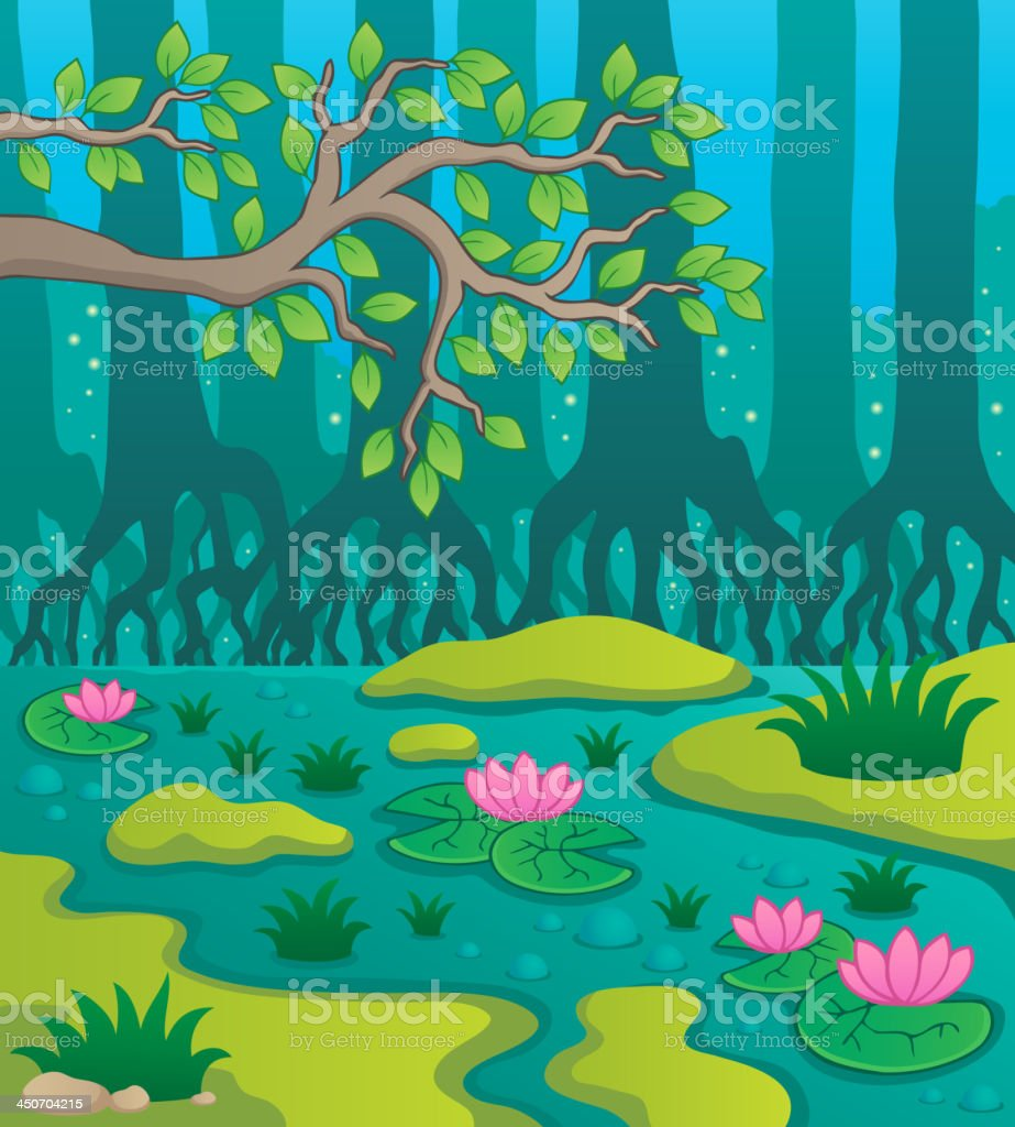 Swamp theme image 2 royalty-free stock vector art
