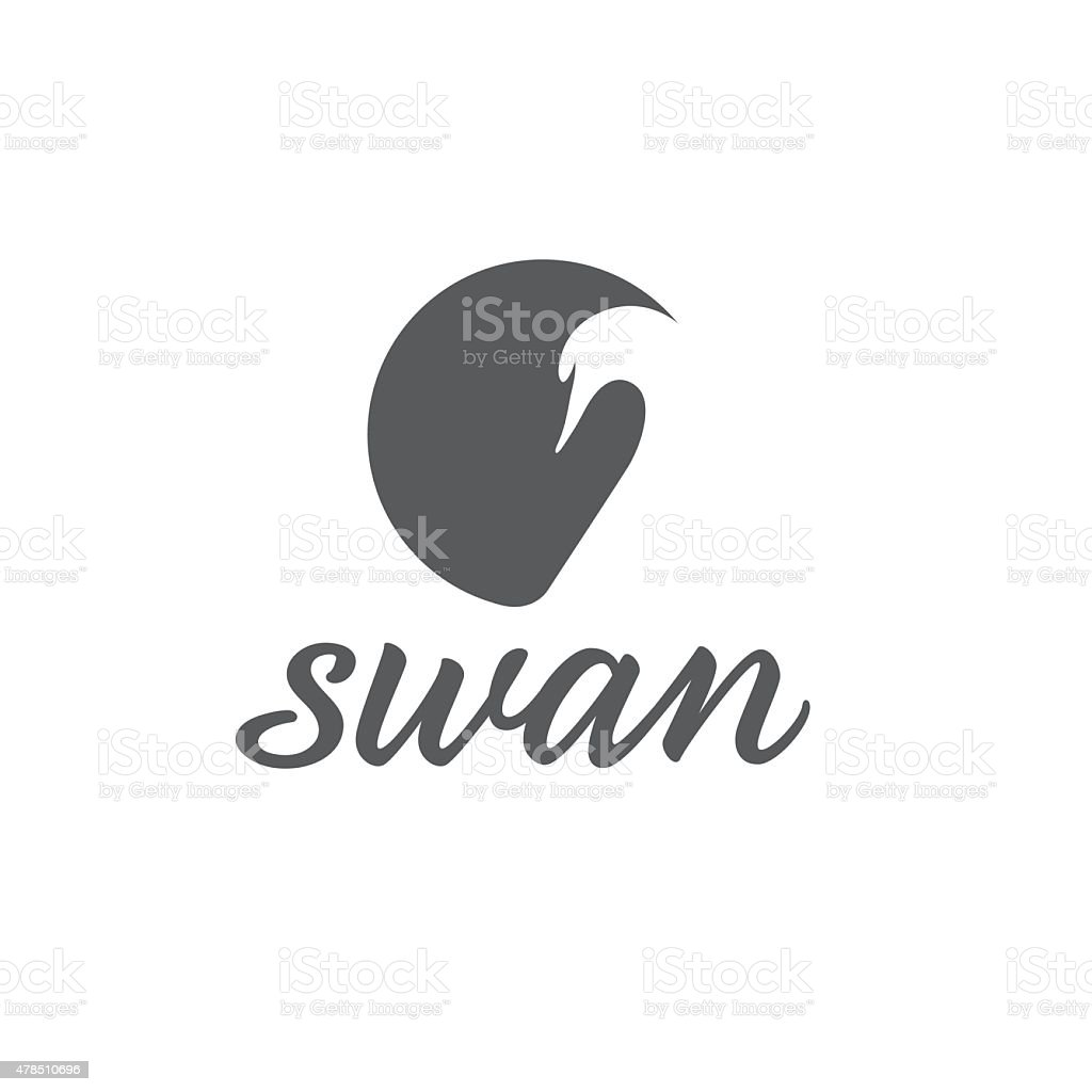 swan abstract illustration vector art illustration