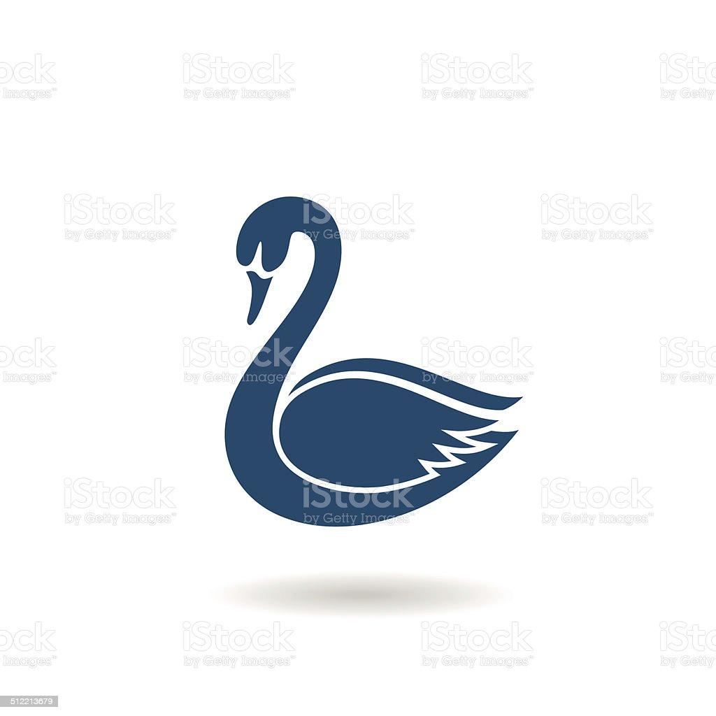 Swan icon vector art illustration