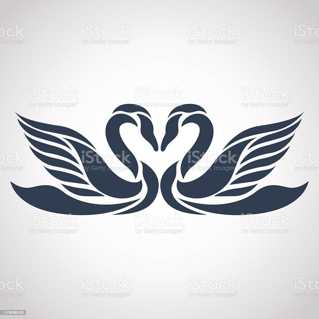 swan logo vector vector art illustration