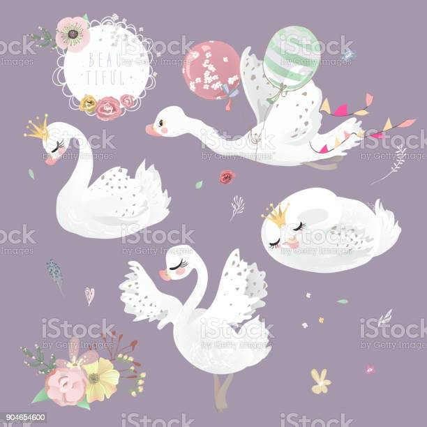 Swan with crown flowers and balloons collection set vector id904654600?b=1&k=6&m=904654600&s=612x612&h=4xmdvbx rcjrg8 dcfgr58e cgizym66ahp2 62jt5w=