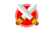 Sward Icon, Modern cartoonish Sward vector