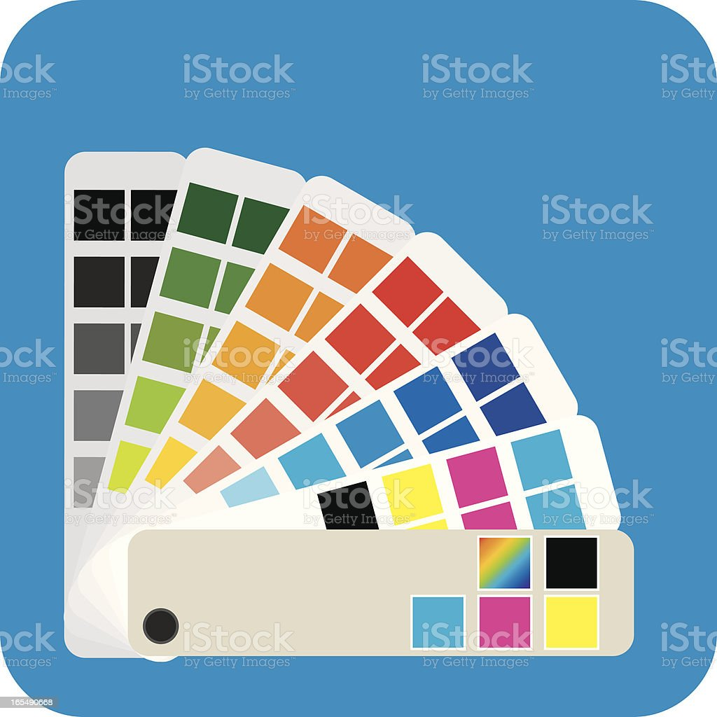 Swatches Print royalty-free stock vector art