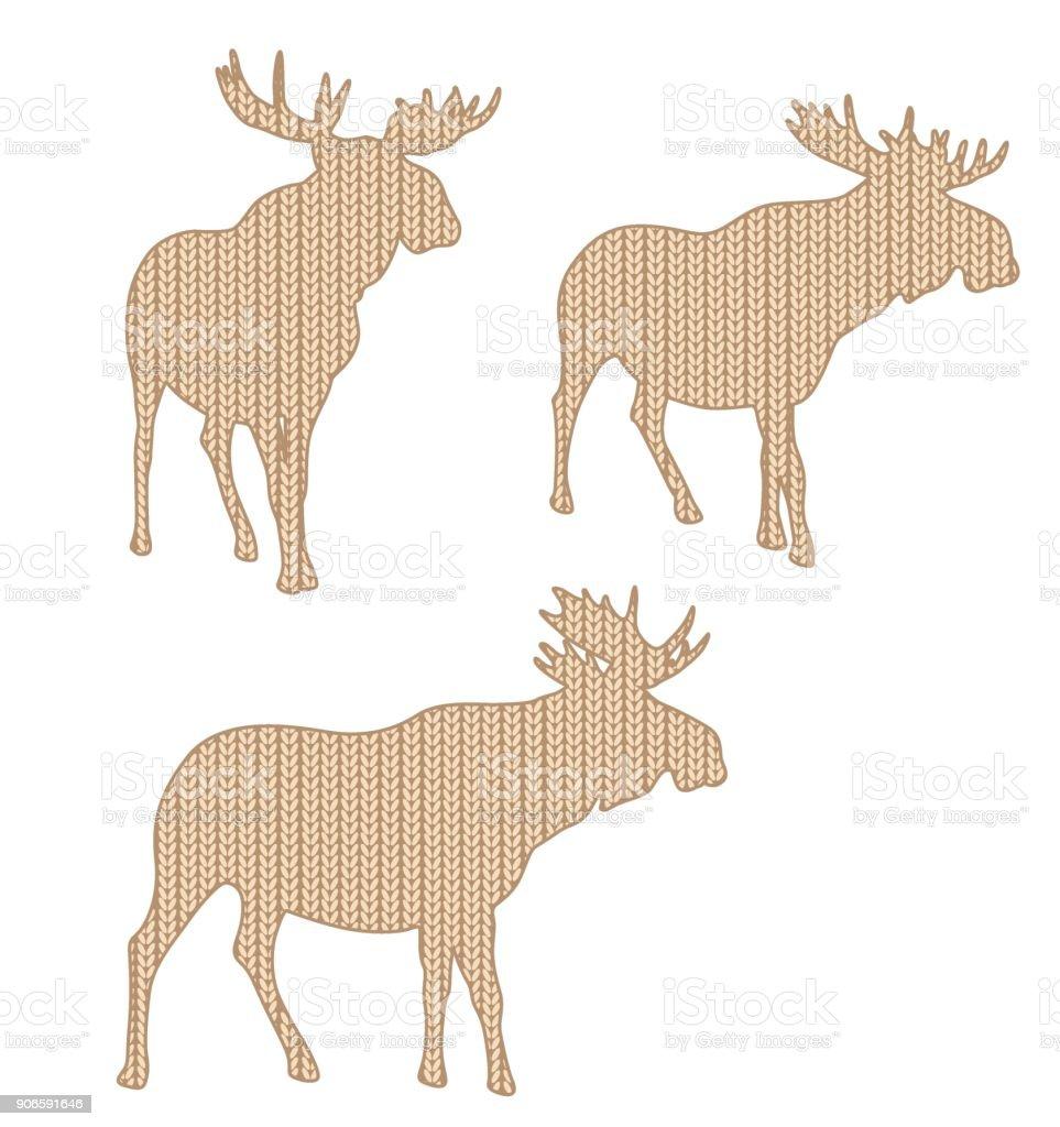 Sweater Knit Moose vector art illustration
