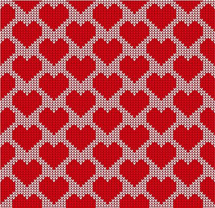 Sweater pattern - hearts