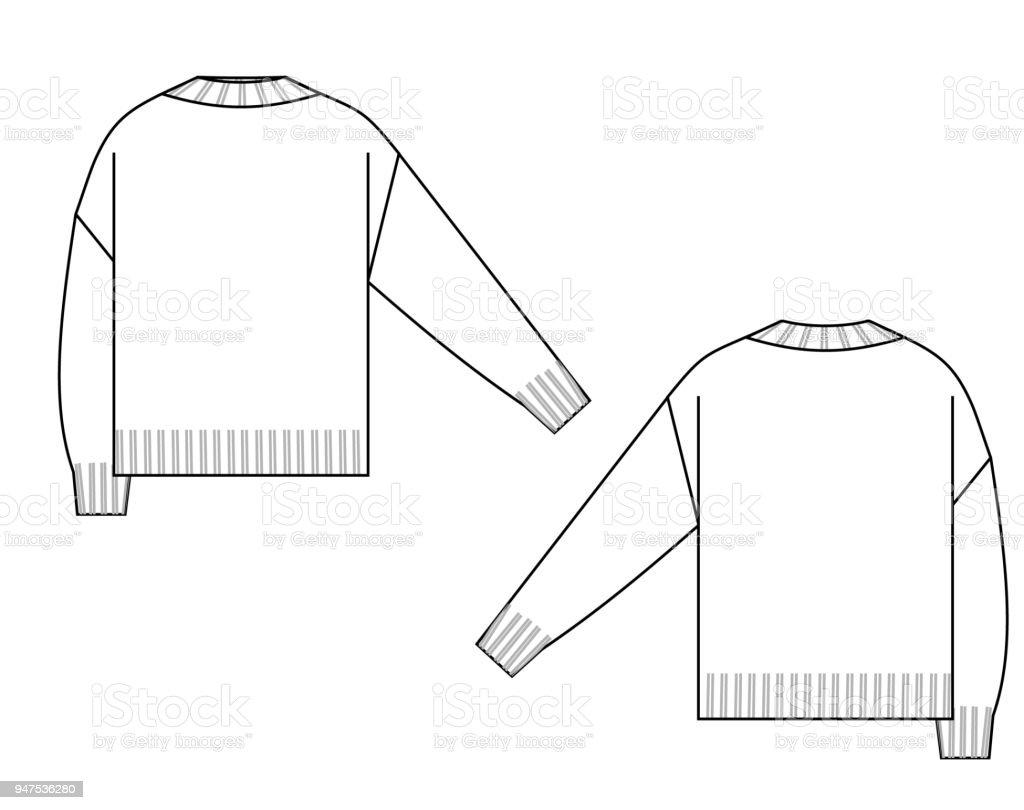 Ilustración de Dibujo Técnico De Suéter y más banco de imágenes de A ...