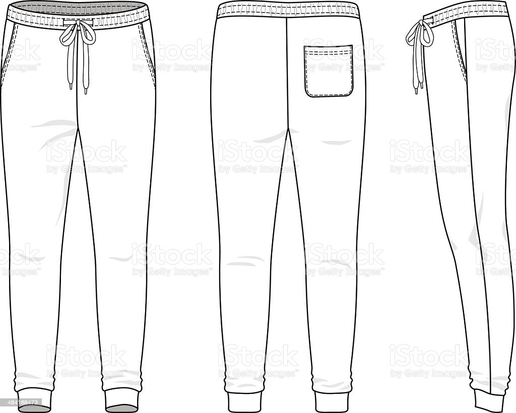 Sweatpant Design Template