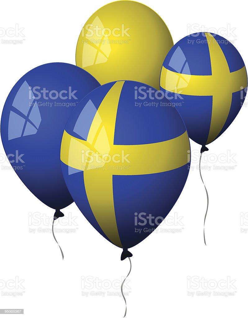 Suecia-globos - ilustración de arte vectorial