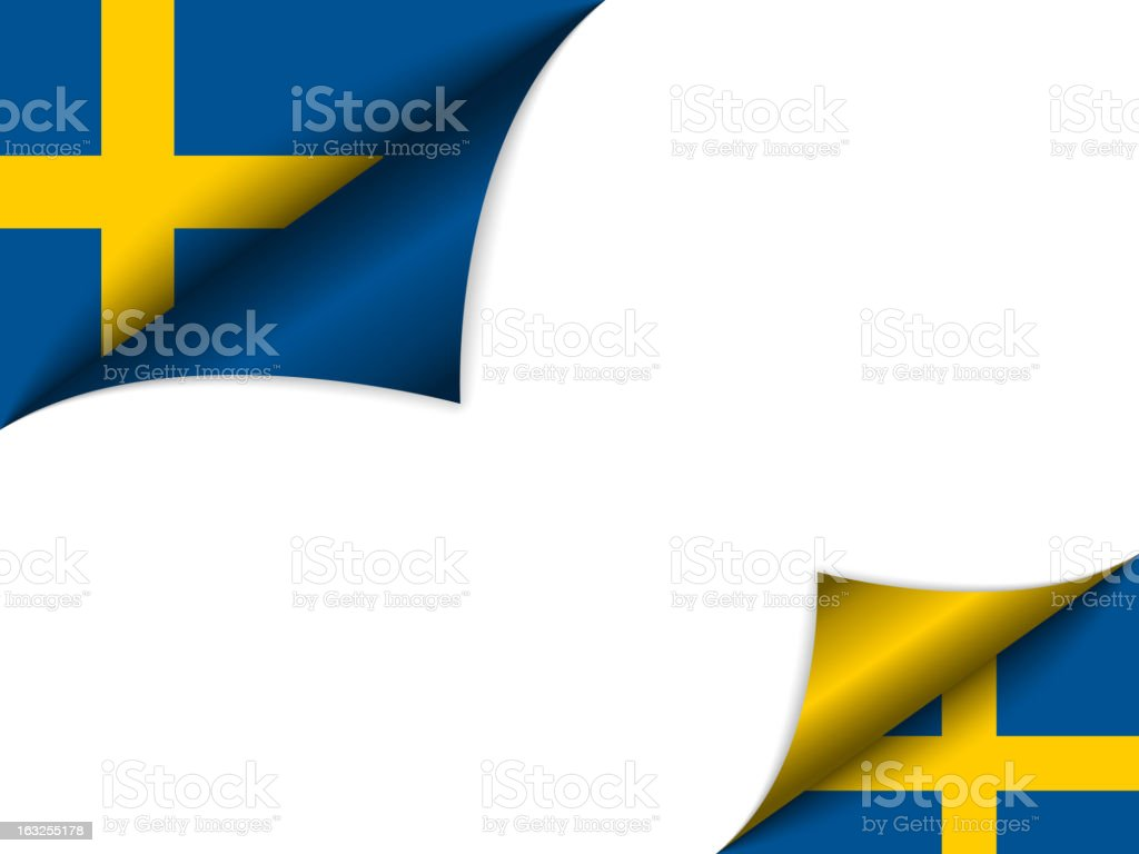 Sweden Country Flag Turning Page royalty-free stock vector art