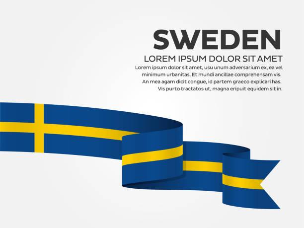 ilustraciones, imágenes clip art, dibujos animados e iconos de stock de fondo de bandera de suecia - bandera sueca