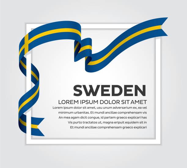 Schweden Flagge Hintergrund – Vektorgrafik