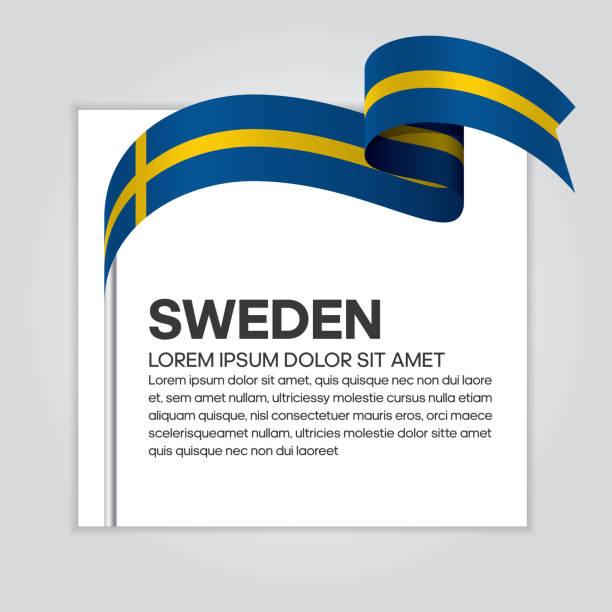 Sweden flag background vector art illustration