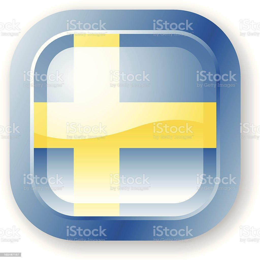 Sweden Flag Icon royalty-free stock vector art