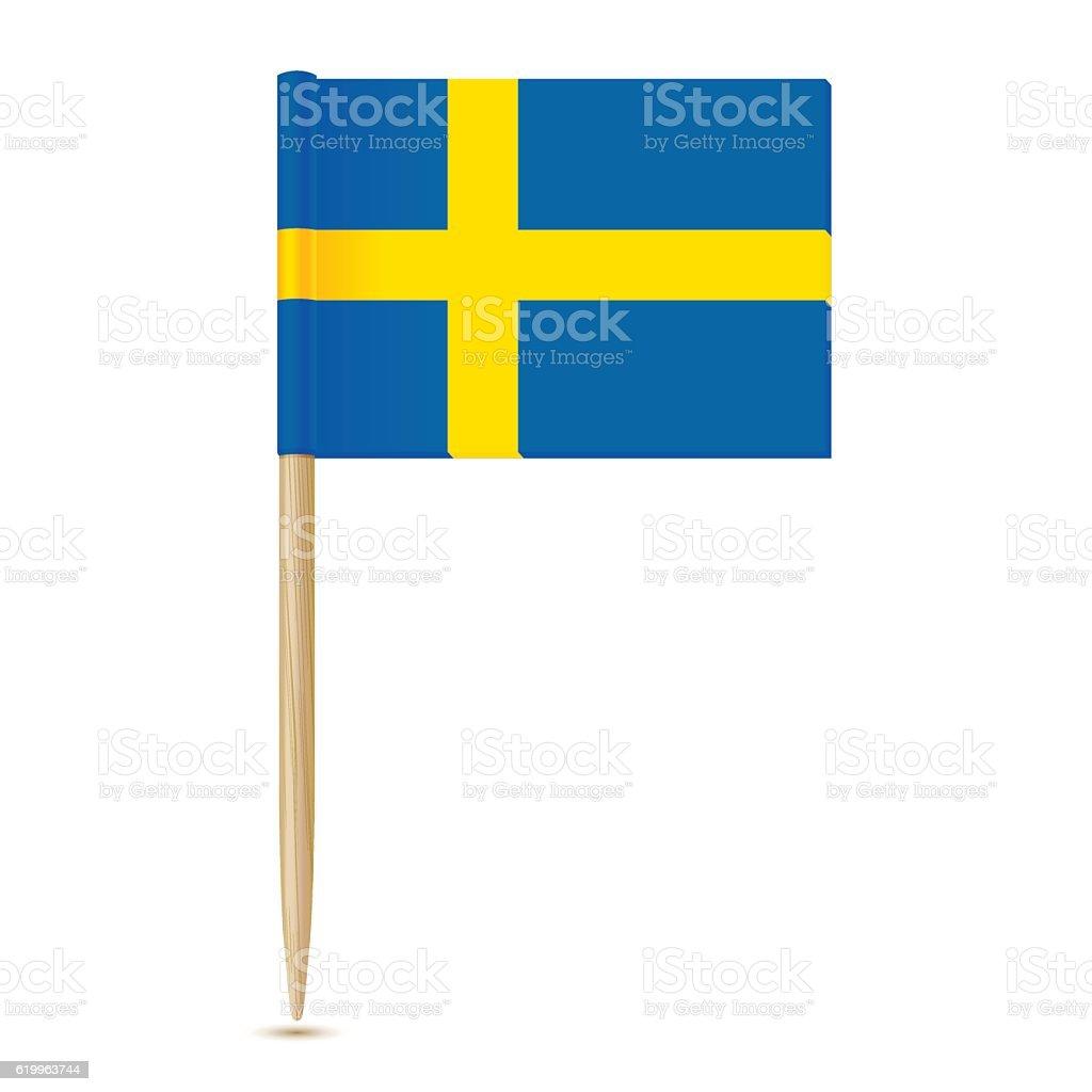 Sweden Flag. Swedish Flag toothpick 10eps – Vektorgrafik