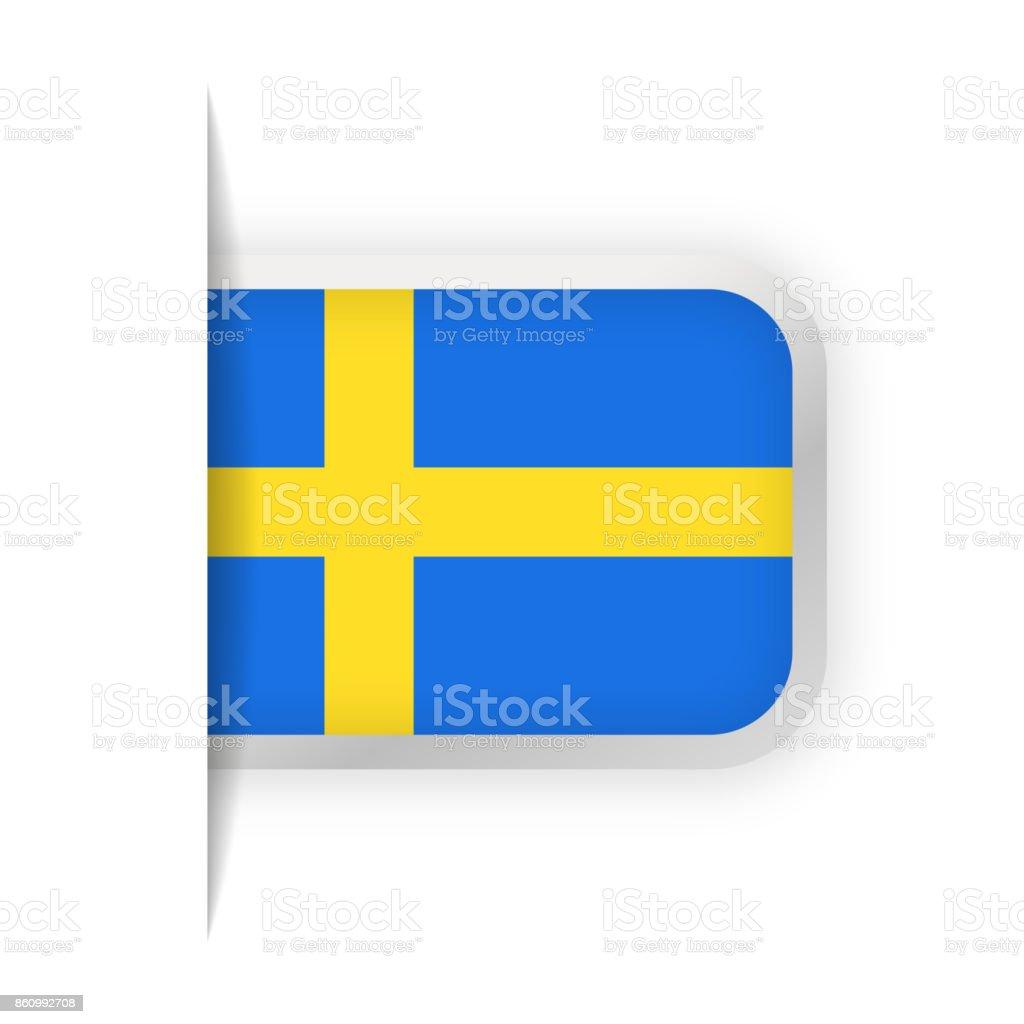 Sweden Flag Vector Bookmark Icon vector art illustration