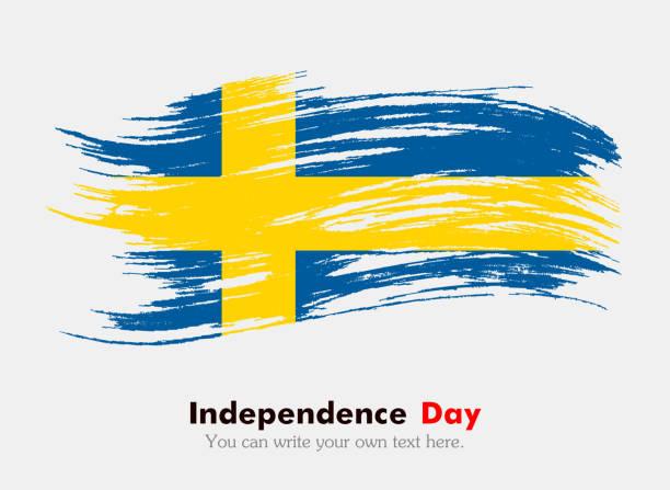 ilustraciones, imágenes clip art, dibujos animados e iconos de stock de bandera sueca - bandera sueca