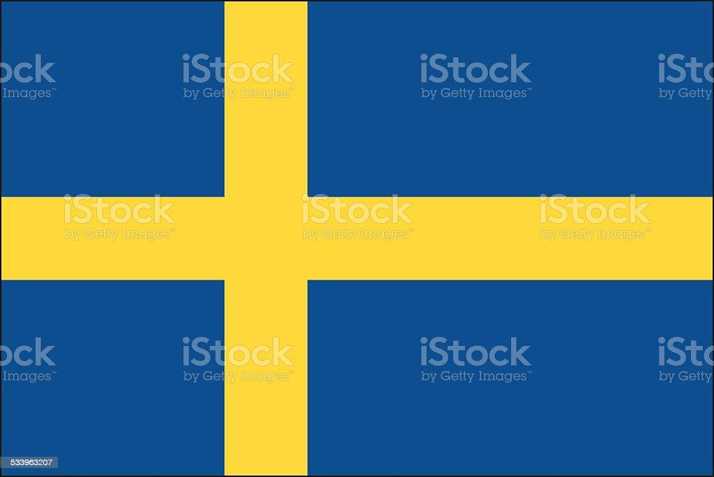 Schweden Flagge – Vektorgrafik