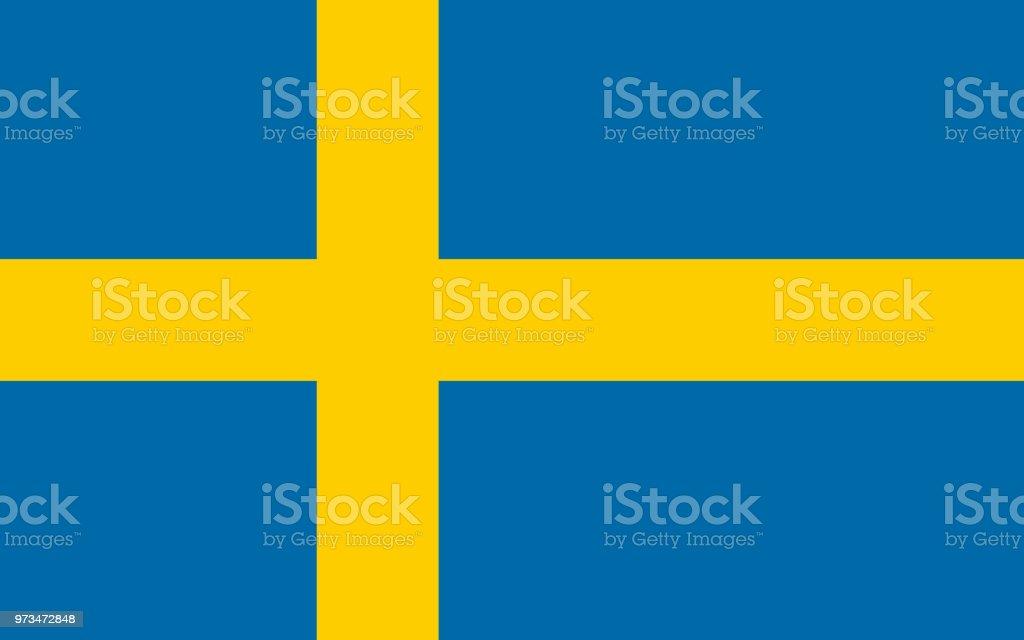 Bandera sueca - ilustración de arte vectorial