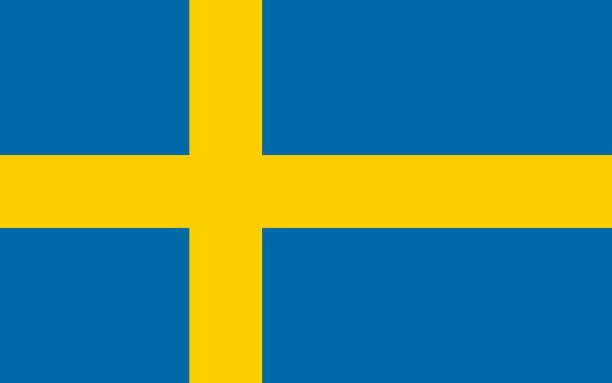 illustrations, cliparts, dessins animés et icônes de drapeau de la suède - suede