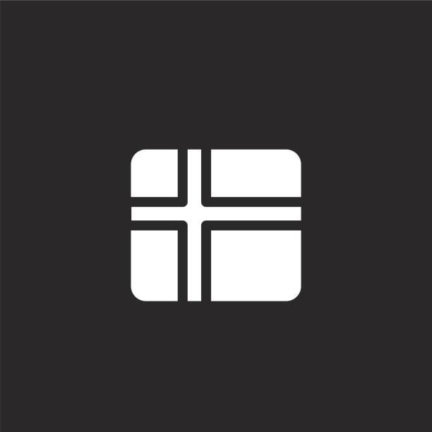 bildbanksillustrationer, clip art samt tecknat material och ikoner med sverige-ikonen. fylld sverige ikon för webbdesign och mobil, applikationsutveckling. sverige ikon från fyllde land flaggor samling isolerad på svart bakgrund. - stockholm