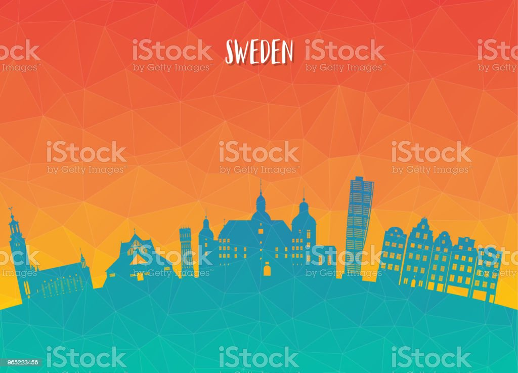 Sweden Landmark Global Travel And Journey paper background. Vector Design Template.used for your advertisement, book, banner, template, travel business or presentation. royalty-free sweden landmark global travel and journey paper background vector design templateused for your advertisement book banner template travel business or presentation stock vector art & more images of architecture