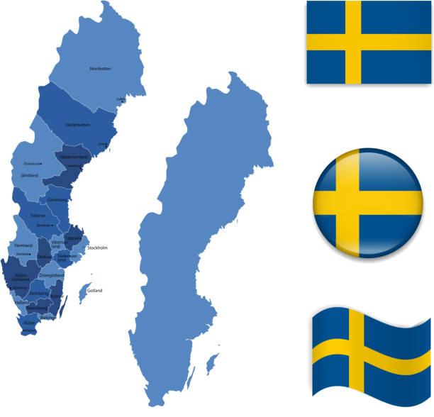 Sweden Map Vector Sweden Flag Vector Clip Art Vector Images - Sweden map clipart