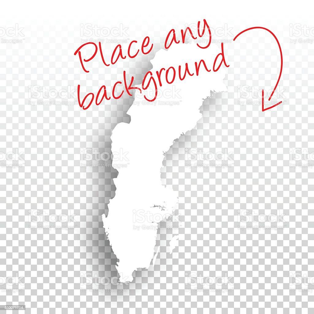 Sweden Map for design - Blank Background vector art illustration