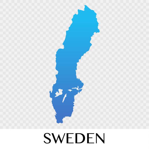 bildbanksillustrationer, clip art samt tecknat material och ikoner med sverige karta i europa kontinenten illustration design - sweden map