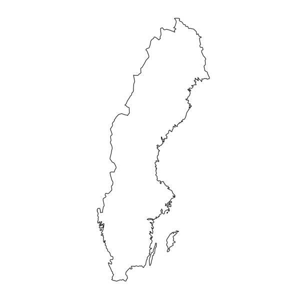 bildbanksillustrationer, clip art samt tecknat material och ikoner med sverige karta - sweden