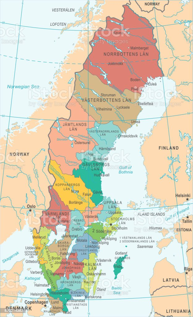 Sweden map vector illustration stock vector art more images of sweden map vector illustration royalty free sweden map vector illustration stock vector art amp gumiabroncs Images