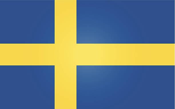 ilustraciones, imágenes clip art, dibujos animados e iconos de stock de suecia o bandera sueca - bandera sueca