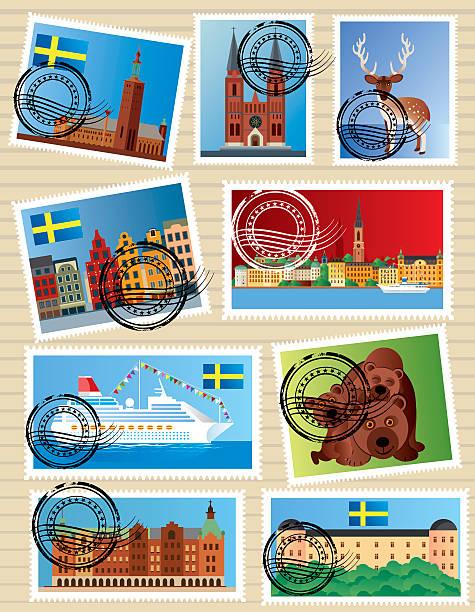 bildbanksillustrationer, clip art samt tecknat material och ikoner med sweden stamps - gothenburg