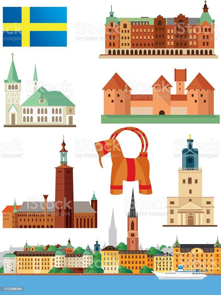 Sweden Symbols royalty-free stock vector art