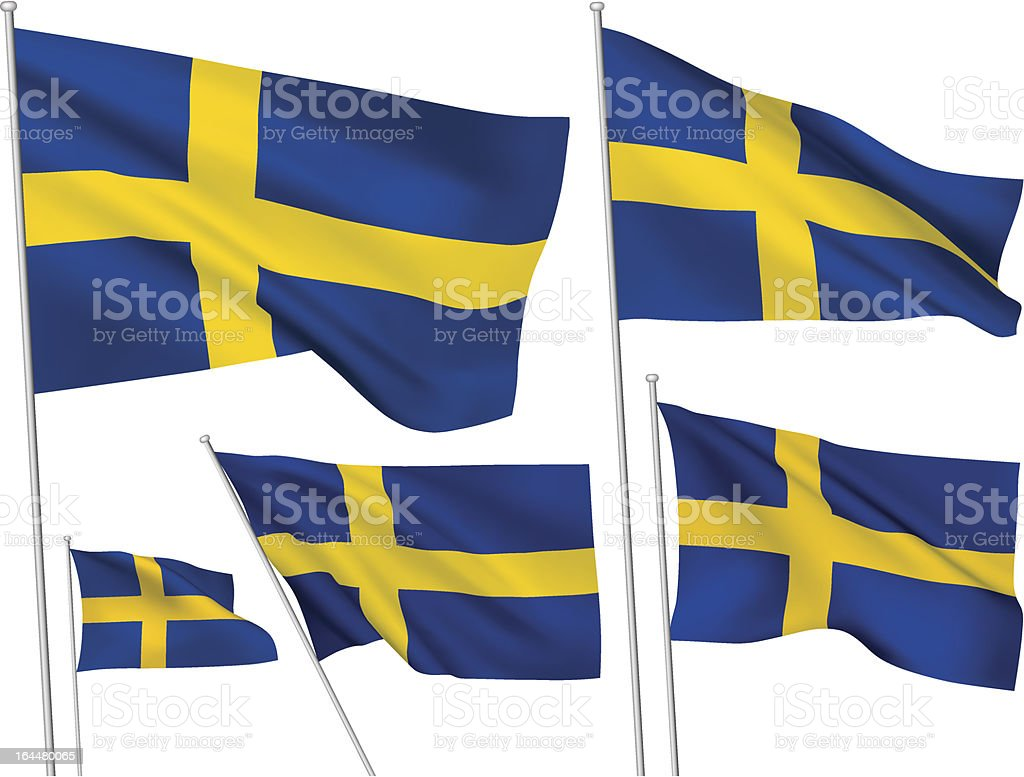 Sweden vector flags royalty-free stock vector art