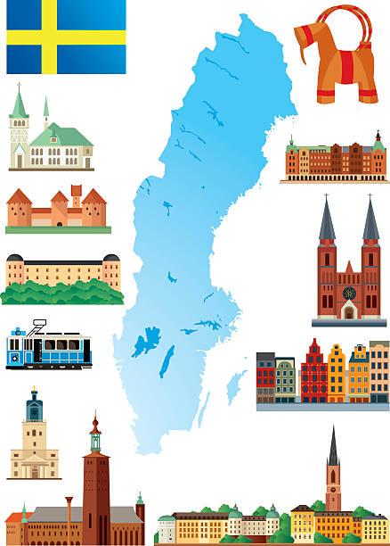 bildbanksillustrationer, clip art samt tecknat material och ikoner med sweden - luleå