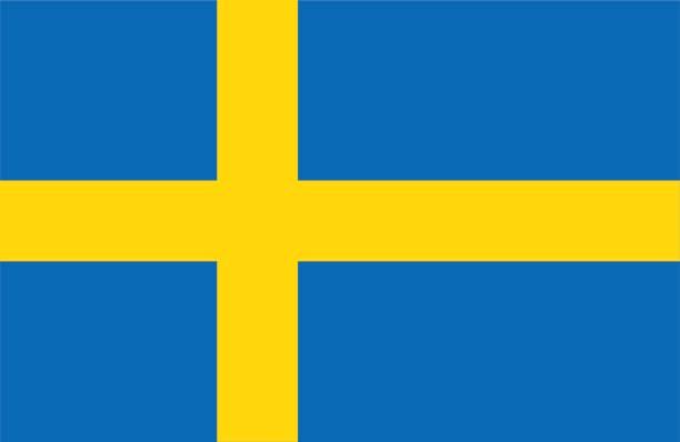 ilustraciones, imágenes clip art, dibujos animados e iconos de stock de suecia - bandera sueca