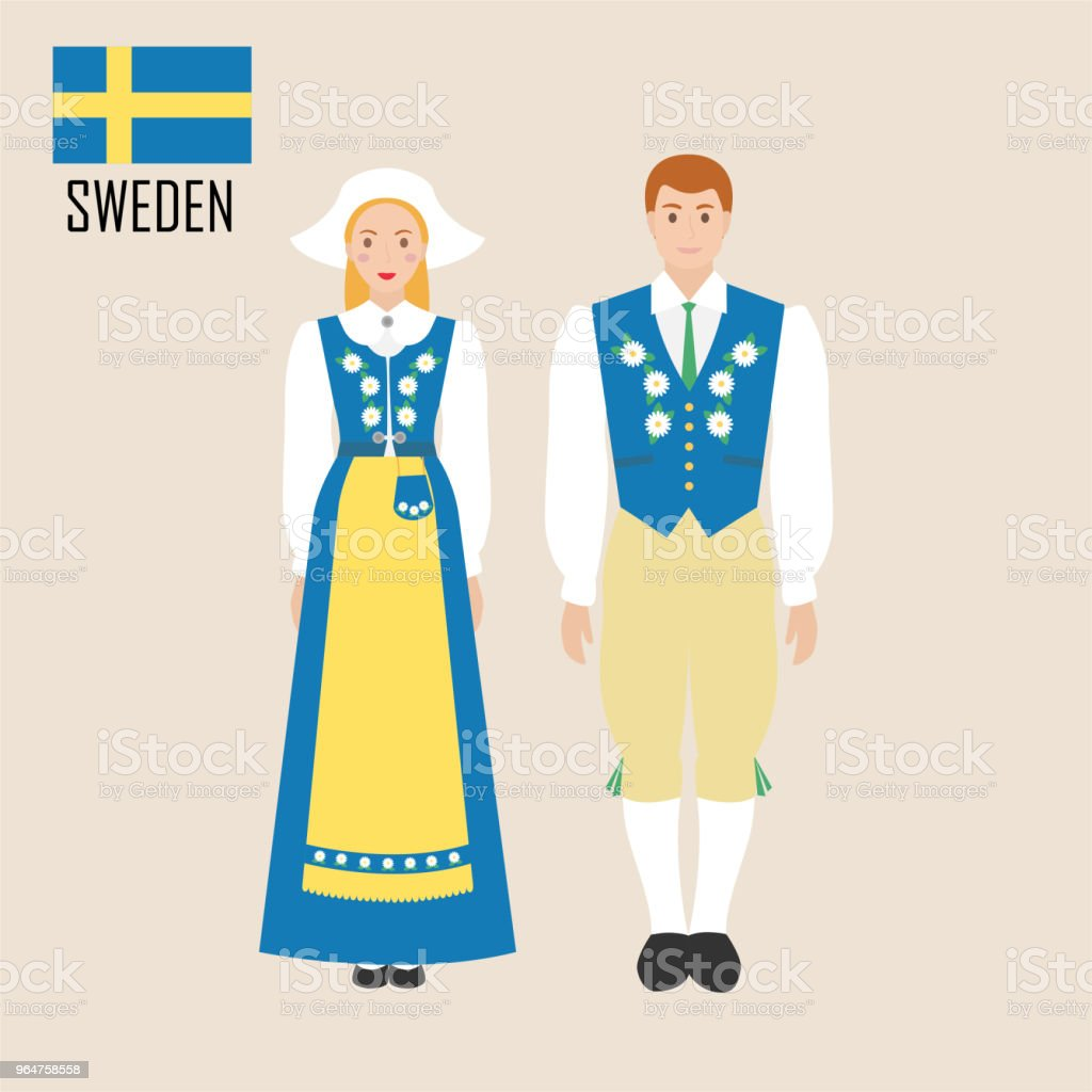 Sweden woman and man in traditional costume royalty-free sweden woman and man in traditional costume stock vector art & more images of adult