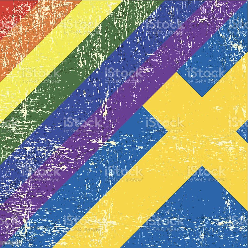 Swedish and gay grunge royalty-free stock vector art