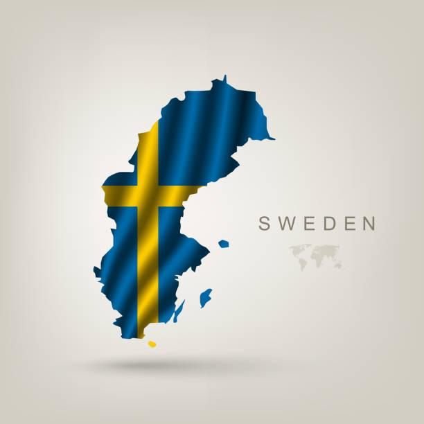 Schwedische Flagge als Land – Vektorgrafik