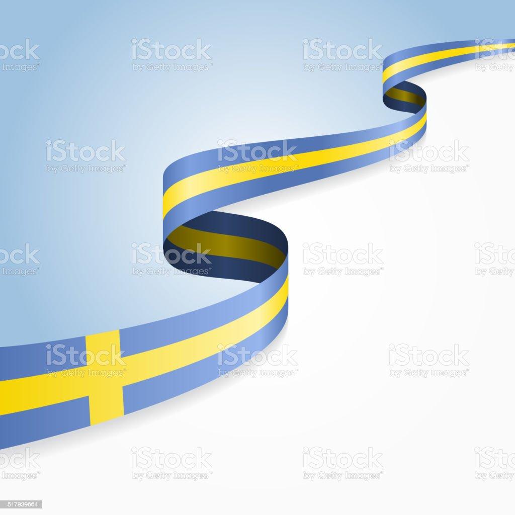 Swedish flag background. Vector illustration vector art illustration