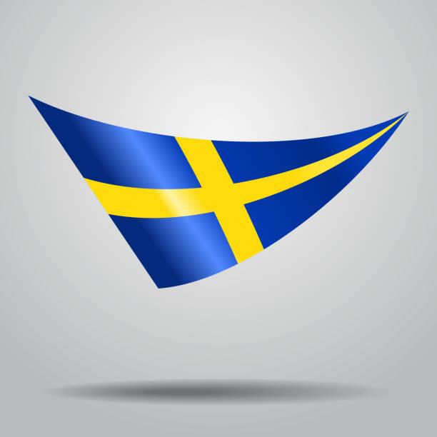 Swedish flag background. Vector illustration. vector art illustration