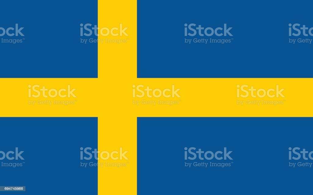 Swedish flag, flat layout, vector illustration vector art illustration