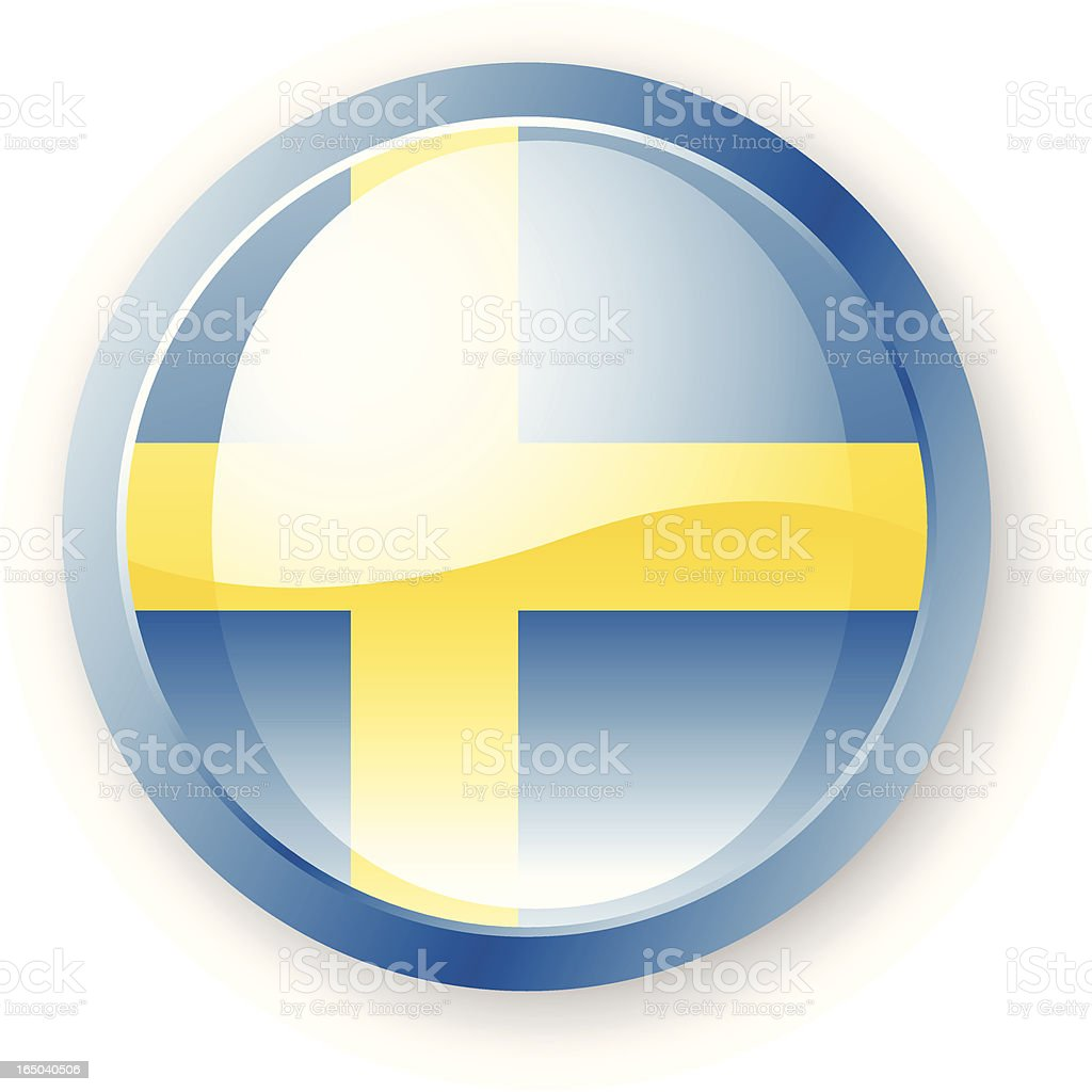 Swedish Flag Icon royalty-free stock vector art