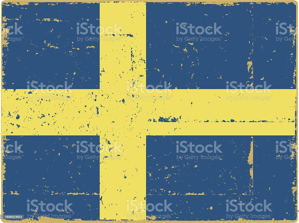 Swedish Flag vector art illustration